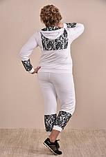 Спортивный костюм больших размеров 0253 белый 48-74, фото 3