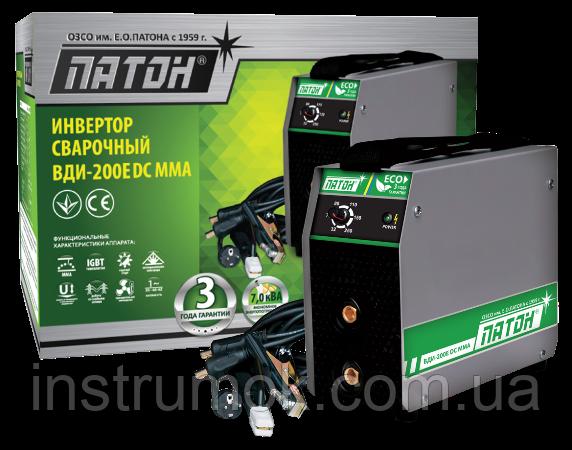 Сварочный аппарат инверторный 200 А ВДИ-200 Е DC MMA Патон