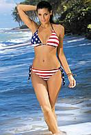 Купальник-бикини Американский флаг с чашечками треугольники