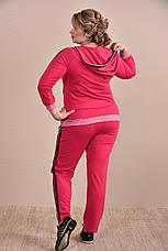 Женский спортивный костюм больших размеров 0254 малина 48-74, фото 3