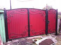 "Ворота с калиткой и столбами ""под кюч"""