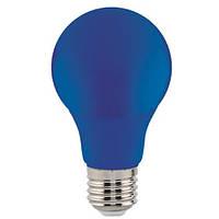 LED Лампа синяя А60 3W E27