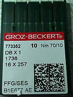Иглы для промышленных швейных машин DBx1 №70 FFG/SES  Groz-Beckert (Германия)