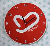 Часы настенные с логотипом Вашей компании 25 см