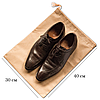 Мешок-пыльник для обуви с затяжкой (бежевый), фото 2