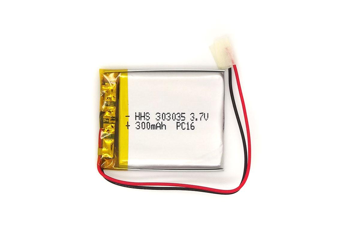 Аккумулятор 300mAh 3.7v 303035 универсальный для видеорегистраторов, наушников, MP3 плееров