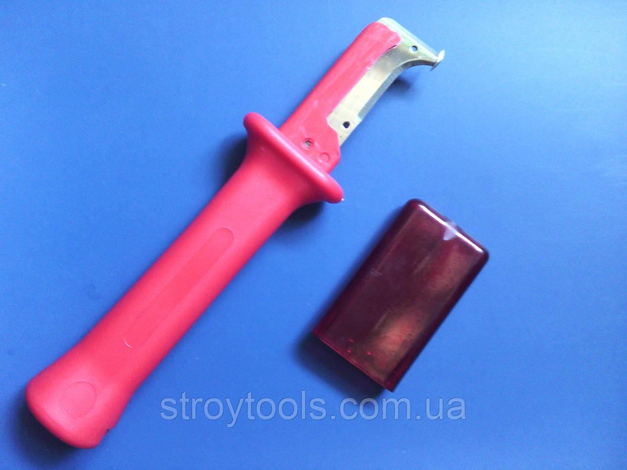 Нож монтерский изогнутый с пяткой для снятия изоляции.31HS  .190 мм .. Купить в Киеве.