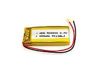 400mAh 3.7v 502040 Аккумулятор для MP3 плееров, гарнитуры, видеорегистраторов