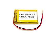 Аккумулятор 550mAh 3.7v 503040 для MP3 плееров, гарнитуры, видеорегистраторов