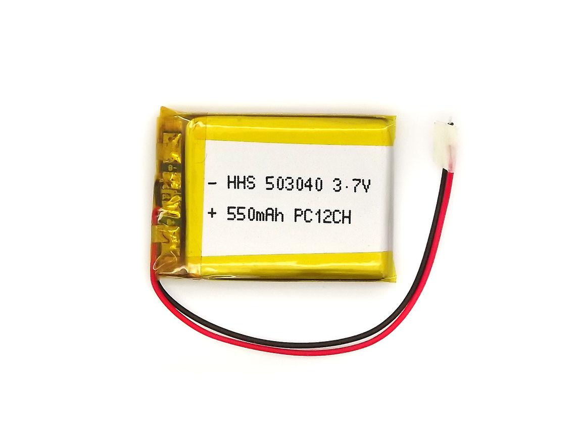Аккумулятор 550mAh 3.7v 503040 для MP3 плееров, гарнитур, видеорегистраторов