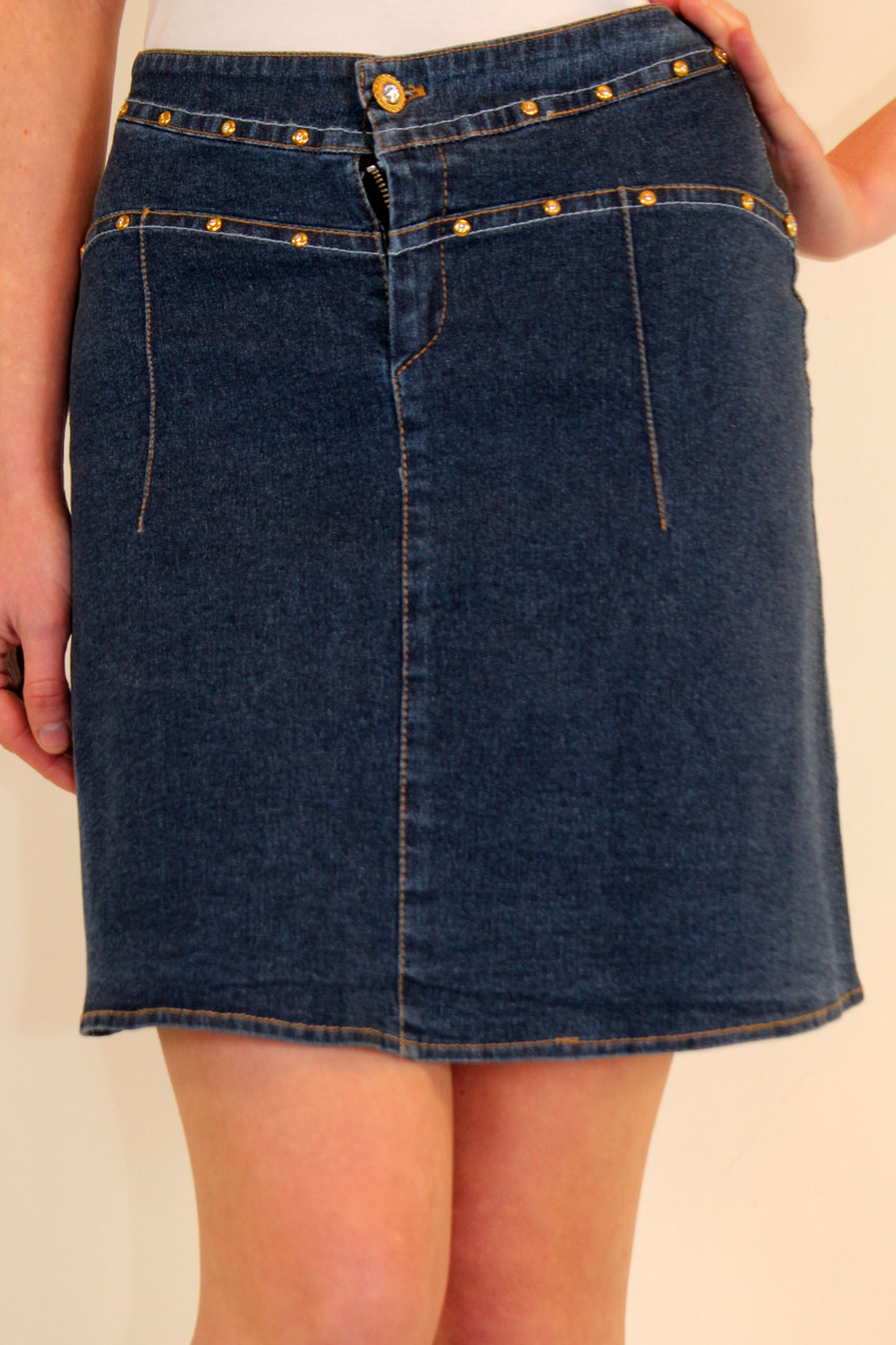 3a3fba0878d Джинсовая юбка трапеция 42-48 р - Оптовый интернет-магазин по продаже  женской одежды