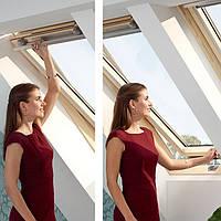 Мансардне вікно VELUX OPTIMA Комфорт GLR 3073BT FR 06 дерев'яне 66х118 см