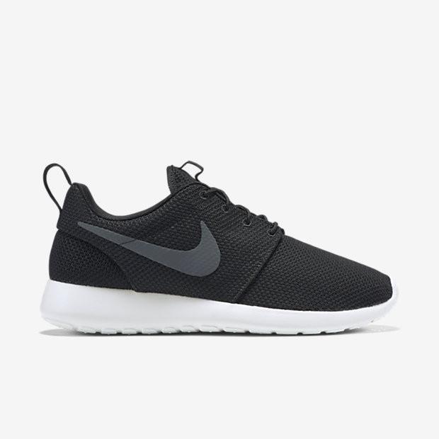 Кроссовки Nike Roshe Run черные с серым