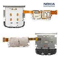 Клавиатурный модуль Nokia C3-01, с коннектором SIM-карты, с коннектором карты памяти, оригинал