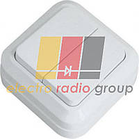 45103Вимикач 2кл. білий IP-20 MAKEL
