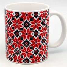 """Сувенірна керамічна чашка """"Український орнамент"""" 350 мл"""