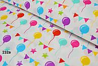 Ткань с разноцветными шарами №232а
