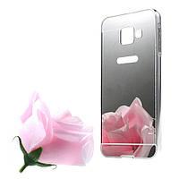 Чехол накладка бампер Mirro-like для для Samsung Galaxy A3 2016 A310 серебро