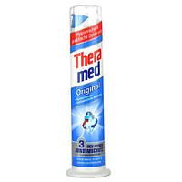 Зубная паста с дозатором Theramed Fluorid-Zahncreme Original 100ml (синяя)