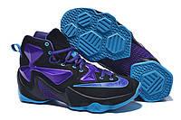 Кроссовки мужские NIKE LEBRON 13 баскетбольные D421 черно-фиолетовые