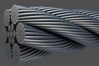 Трос (канат) нержавеющий 4мм свивка 1х9 ГОСТ 3053