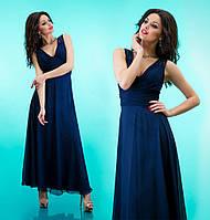 """Вечернее платье в пол """"Оллисия"""" Темно синий, 42-46"""