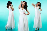 """Вечернее платье в пол """"Оллисия"""" Белый, 42-46"""