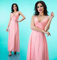 """Вечернее платье в пол """"Оллисия"""" Розовый, 42-46"""