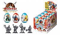 """Шоколадное яйцо с сюрпризом """"Воины"""" 6/24, 20г."""