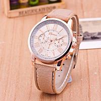 Женские часы Geneva Platinum бежевые