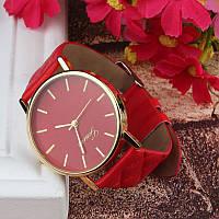 Женские часы Geneva Charm красные c2a409d2862b5