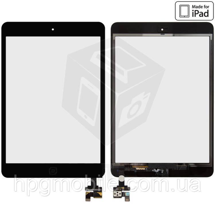 Сенсорный экран (touchscreen) для iPad mini A1432/A1454/A1455, с кнопкой HOME, микросхемой, оригинал