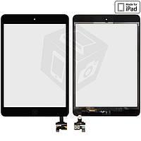 Сенсорный экран (touchscreen) для iPad mini 2 Retina, кнопкой HOME, с микросхемой, черный, оригинал