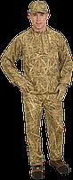 Костюм летний Jahti Jakt Archie light reed Camo армированный c защитой от москитов