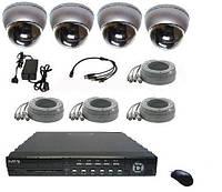 Комплект видеонаблюдения с антивандальными камерами