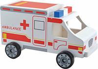 Машинка скорой помощи, деревянная