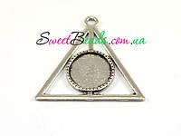 Дары смерти с сеттингом (16мм), серебро