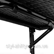 Балконний навісний, відкидний ротанговий столик, фото 2