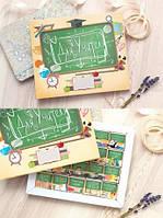 Шоколадный набор 20 плиток XL «Для учителя» Рус