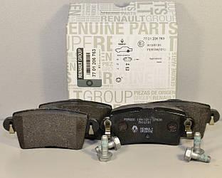 Дискові гальмівні колодки задні на Renault Master II 1998->2010 Renault (Оригінал) — 7701206763