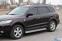Боковые пороги для Hyundai Santa fe 2013+ d:51 ST Line