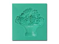 Молд от Арт ПроСвет - Ваза с цветами, 40x40 мм