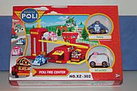 """Игровой набор """"Пожарная станция"""" Робокар Поли -  Robocar Poli + 2 машинки: Поли (Poli) и Эмбер (Amber)"""