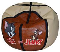 Детская мебель кресло-мяч пуф Том и Джерри бескаркасная мебель, фото 1
