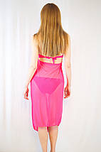 Стильная яркая удлиненная пляжная туника накидка сетка на море желтая, оранжевая, розовая, голубая, фото 3