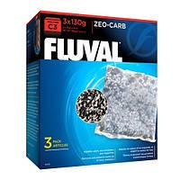 Уголь Zeo - Carb для фильтра Fluval C3, 3х130 г