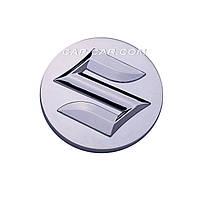 Колпачки заглушки для литых дисков Suzuki серый + хром 54мм