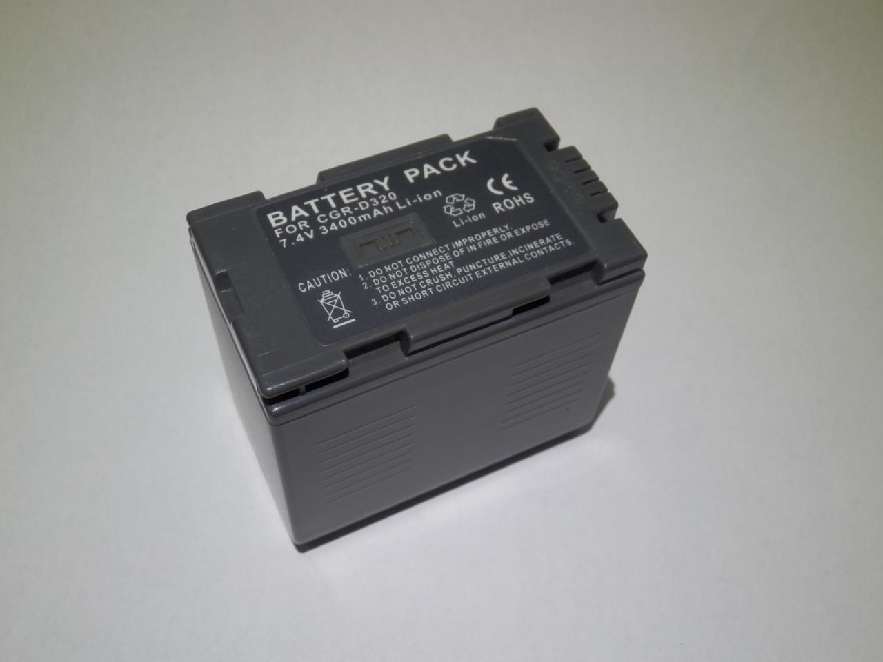 "Акумулятор до відеокамери тм""MastAK"" Panasonic CGP-D320/CGA-D28 7,4 V 3Ah Li-ion"