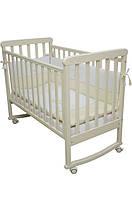 Кровать детская Veres  Соня ЛД 12 (с резьбой лапки) слоновая кость (12.04)