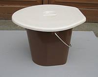 Ведро туалетное пластиковое 16 л ПолимерАгро PA-001